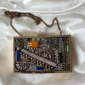 unique clutch box from Zara